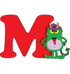 M is for monster vector image