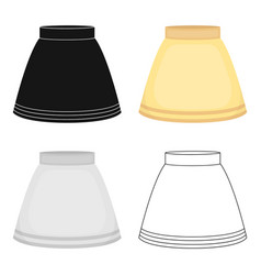 skirt icon of for web and vector image
