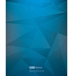 Abstract dark blue space geometrical background vector image
