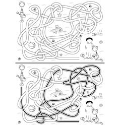 Beach maze vector image