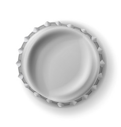 beer cap curved beer cap realistic vector image