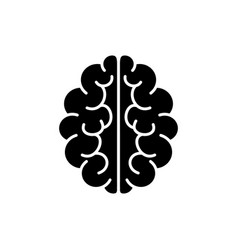 brain icon mind symbol vector image vector image