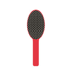 hair brush icon comb isolated salon beauty vector image