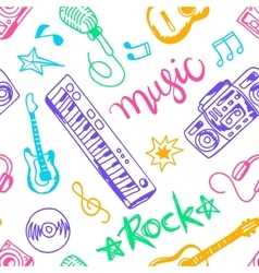 musical instruments flat icons and elements set vector image