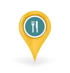 Restaurant Location vector image