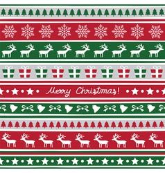 Seamless Christmas background16 vector image
