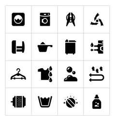 Set icons of laundry vector image vector image