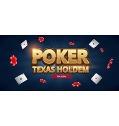 casino chips cards and place for text vector image vector image