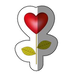 Color heart balloon plant icon vector