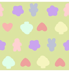 Seamless pattern pastel vector image vector image