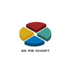 3d statistic chart graphic template vector image