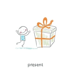 A man and a gift vector image