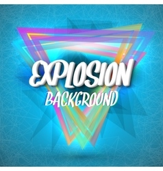 Abstract Explosion Background with Colorful vector