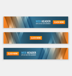 Abstract website header horizontal banners vector