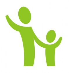 adult and child vector image