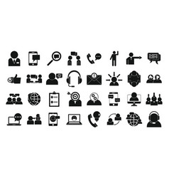 Advice icons set simple style vector
