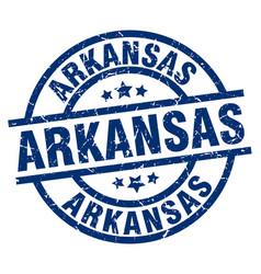 Arkansas blue round grunge stamp vector