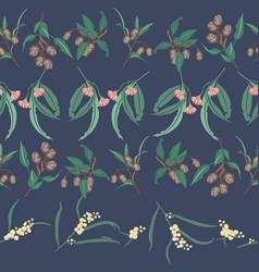 australian native rows seamless repeat vector image