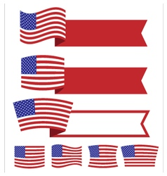 Banner american independence day1 vector