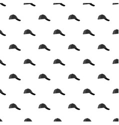 Baseball cap on the side pattern seamless vector