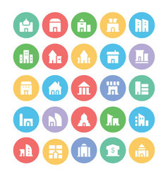 Building and Furniture Icons 2 vector