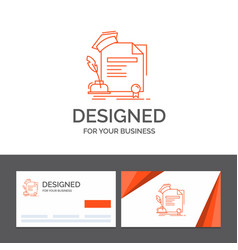 Business logo template for certificate degree vector