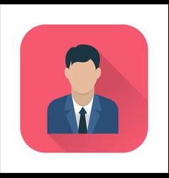 businessman flat icon vector image