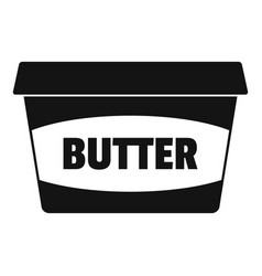 butter plastic pack icon simple style vector image