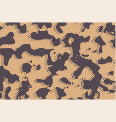Camouflage army fabric texture in brown shades vector