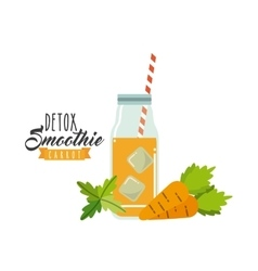 Carrot Detox icon Smoothie and Juice design vector image