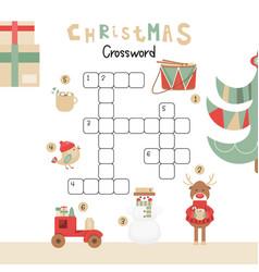 christmas crossword vector image