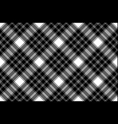 Classic pixel plaid black white seamless pattern vector