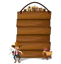 Cowboy Signboard vector