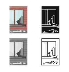 Design broken and window symbol set of vector