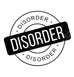 disorder rubber stamp vector image