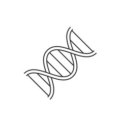 dna line icon on white background editable stroke vector image