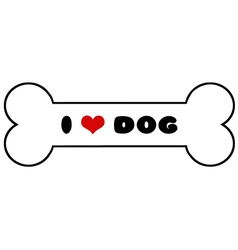 Dog Bone With Text vector image