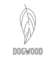 Dogwood leaf icon outline style vector