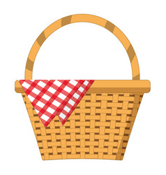 Empty picnic basket vector