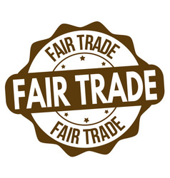 fair trade sign or stamp vector image