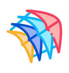 Few pieces kite icon outline vector