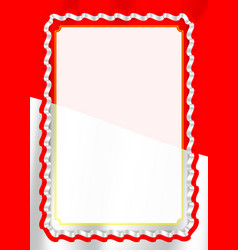 Frame and border of ribbon with indonesia flag vector