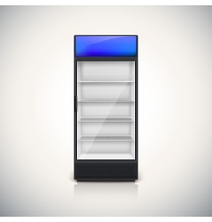 Fridge with glass door vector image