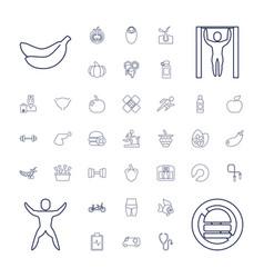 Healthy icons vector