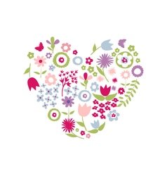 Heart of flowers for Mothers Day vector