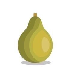 icon pear fruit design vector image