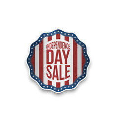 Independence day sale banner in realistic style vector