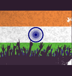 India flag with audience vector