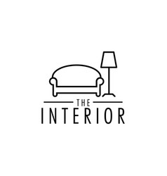 interior logo design template isolated vector image