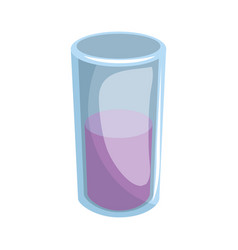 juice glass isolated vector image